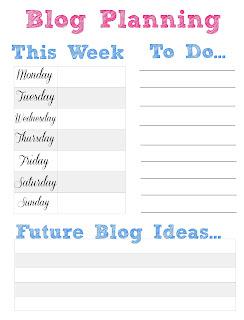 free weekly blog planner