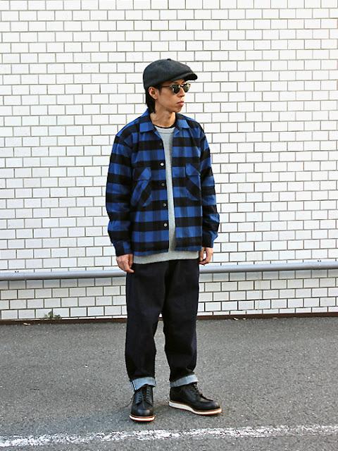 BLACK&BLUEのシャツを使ったアメカジコーデ