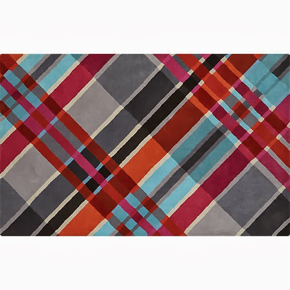Plaid Rug: Retropolitan: Plaid Is Rad!?