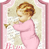 Retro Babies: Free Printable Cards, Toppers or Labels.