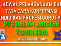 Jadwal Pelaksanaan PPG dan Tata Cara Konfirmasi Kesiapan PPG Dalam Jabatan Tahun 2020
