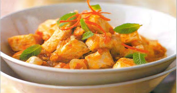 Vietnam Crisp-fried Tofu In A Tangy Tomato Sauce Recipe