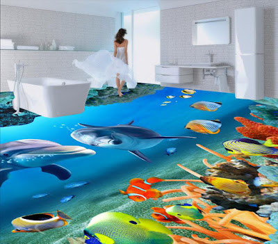 New 3d bathroom floor types and installation