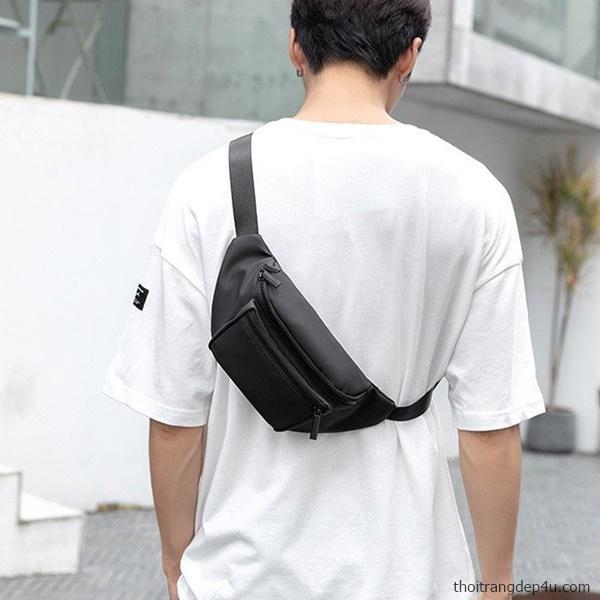Túi bao tử đeo chéo trước ngực vải dù thời trang BAM069
