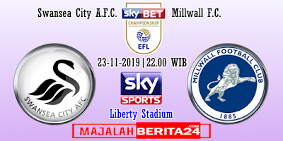 Prediksi Swansea City vs Millwall — 23 November 2019