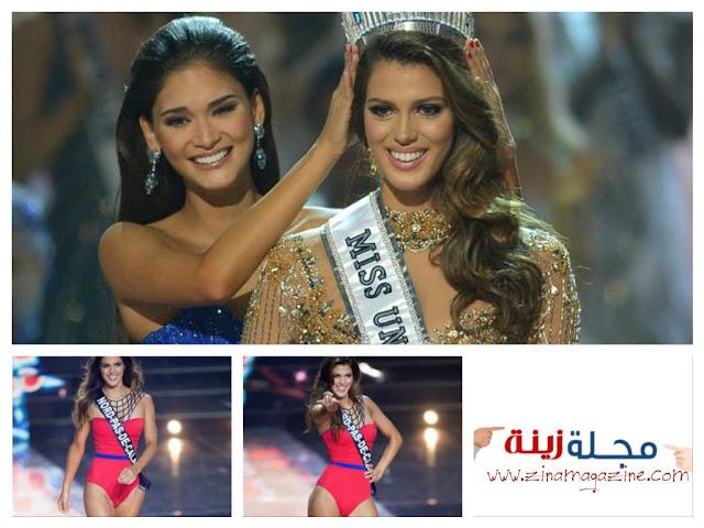 ملكة جمال فرنسا تهزم ملكتي جمال هايتي وكولومبيا وتنتزع لقب ملكة جمال الكون