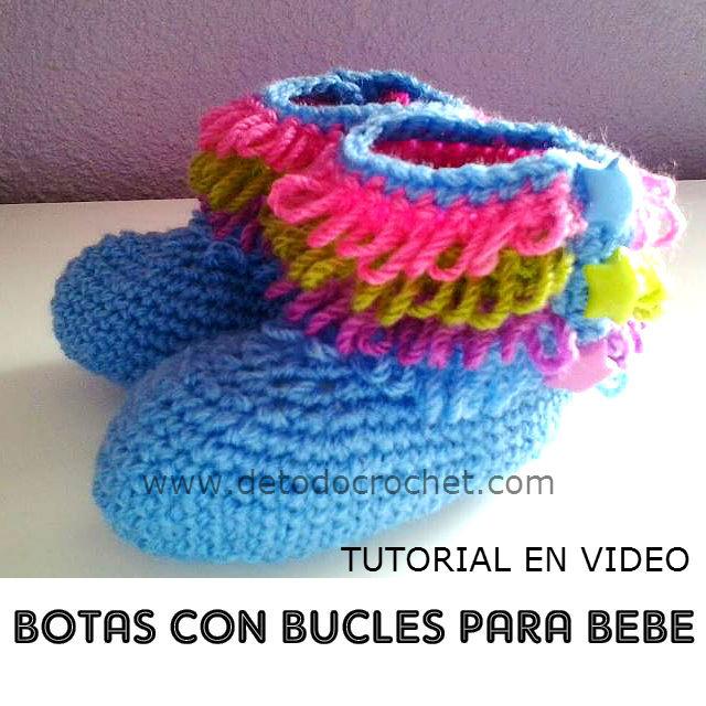 como se tejen las botas para bebe con ganchillo