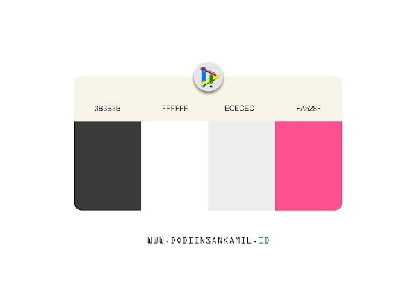 Gradasi Warna Hitam, Putih, dan Pink - Colour Gradation Black, Dark, White and Pink