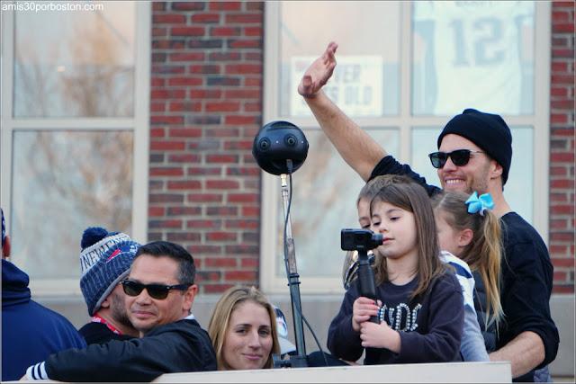 Tom Brady en el Desfile de los Patriots por la Celebración de la Super Bowl LIII