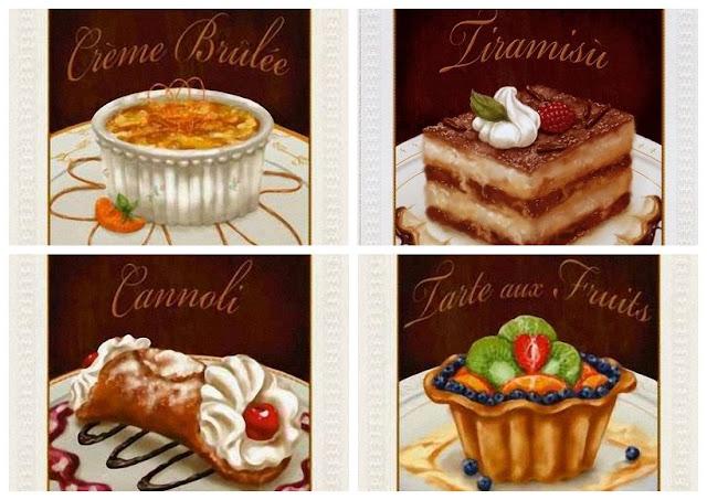 Vintage Dessert Posters.