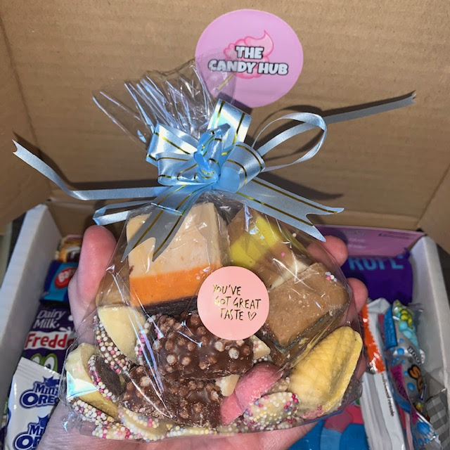 A mixed bag of chocolate and fudge, nostalgic sweets like jazzies and chocolate mice