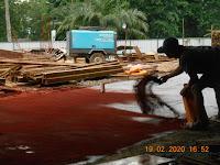 Pekerjaan Floor Hardener Pada Bangunan Kantor Pabrik