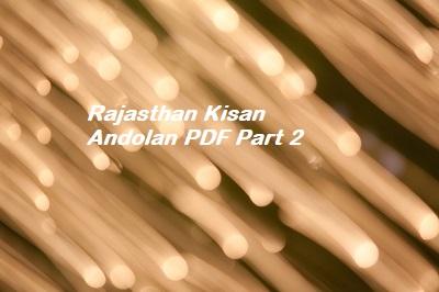 Rajasthan Kisan Andolan PDF Part 2