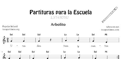 6 Canciones Infantiles para tocar y cantar en clases y/o escuelas de Música Partitura Fácil + Notas + Letra