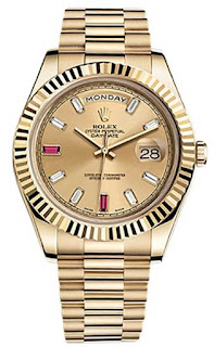Pajak Rolex ( ROLEX DAY-DATE II ROSE GOLD PRESIDENT WATCH PINK DIAMOND DIAL ) Box / Cert Dipajak RM 90,000