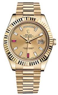 Pajak Rolex ( ROLEX DAY-DATE II ROSE GOLD PRESIDENT WATCH PINK DIAMOND DIAL ) Box / Cert Dipajak RM 90,000