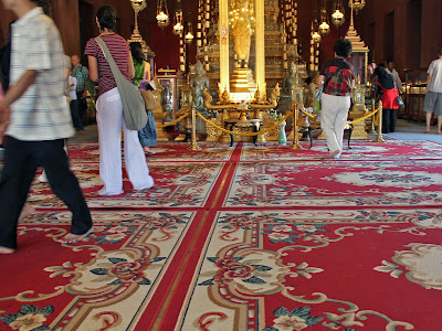 Inside the Throne Hall of the Royal Palace in Phnom Penh