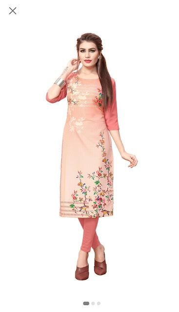 Crepe women kurti