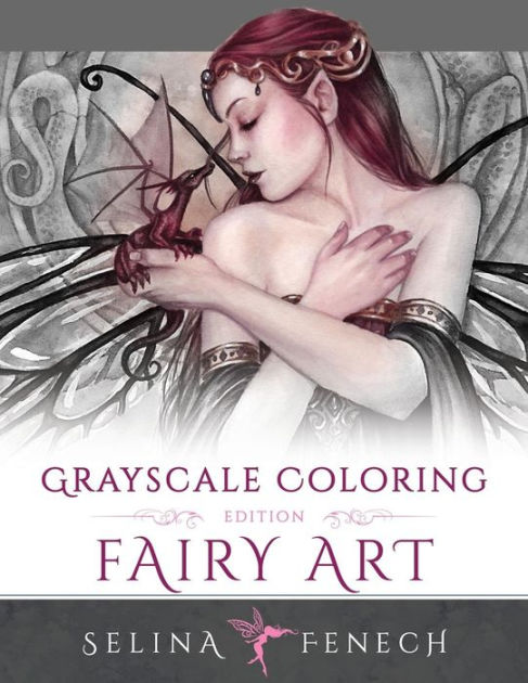 ok so all coloring books are already black and white but this grayscale fairy coloring book just lends itself more to gothic coloring inspiration - Gothic Coloring Book