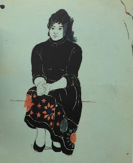 Anna, painting by Pauline Boty, 1955