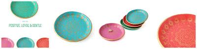 Colourful Mandala Ring Dishes