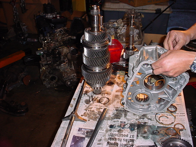 Getrag V160 transmission from an R34 GT-R disassembled