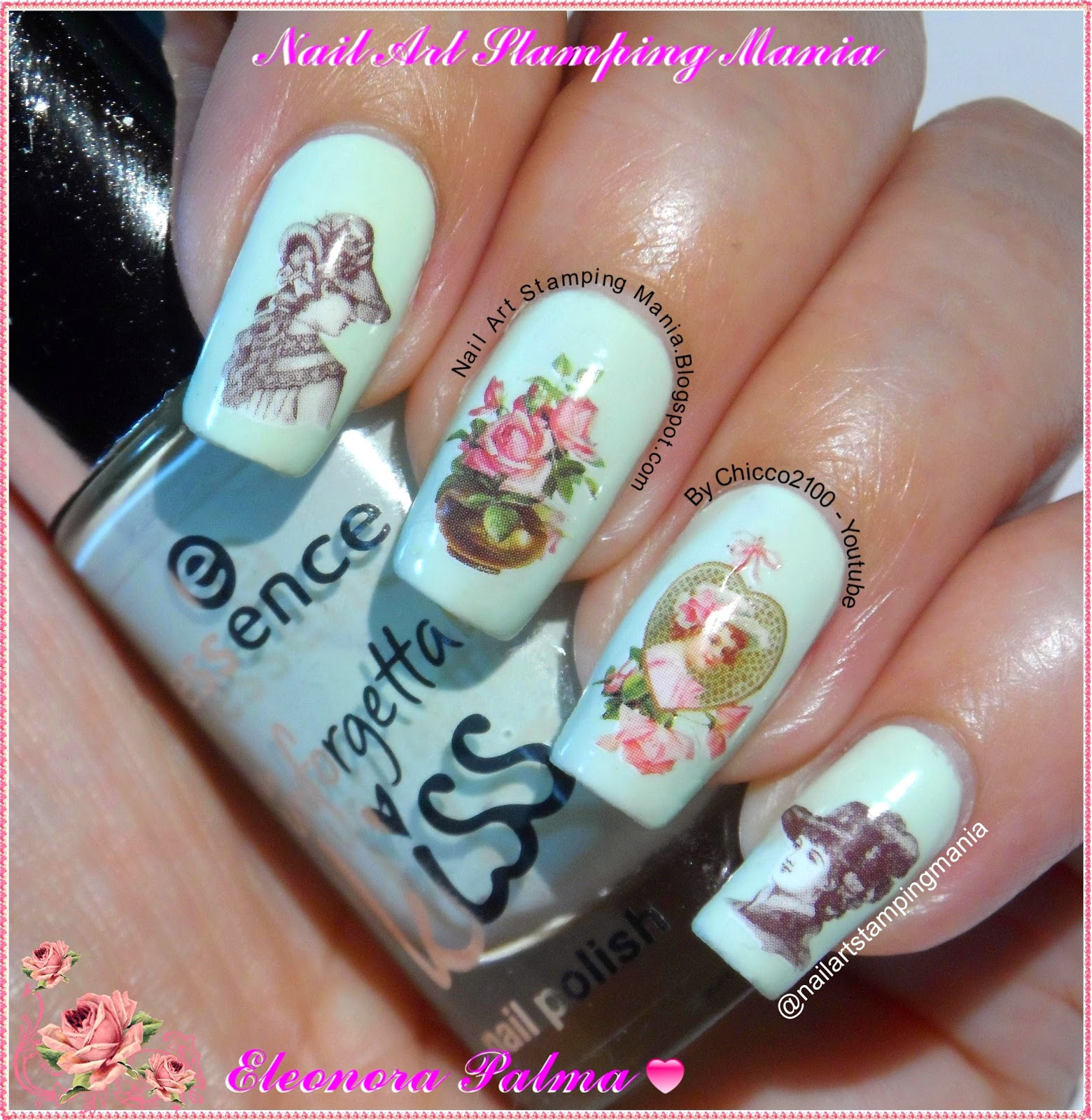Nail Art Stamping Mania: Victorian Manicure With Born ...