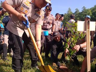 Kapolda NTB Pimpin Penghijauan Sejuta Pohon di Lobar