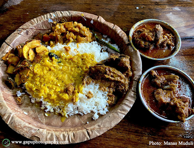 Mutton Curry Plate from Indira Hotel, Cuttack-Paradeep Road