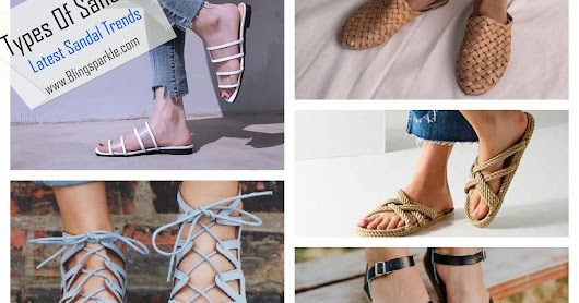 35 Different Types Of Sandals For Ladies with Pictures || Types Of Flat Sandals For Summers