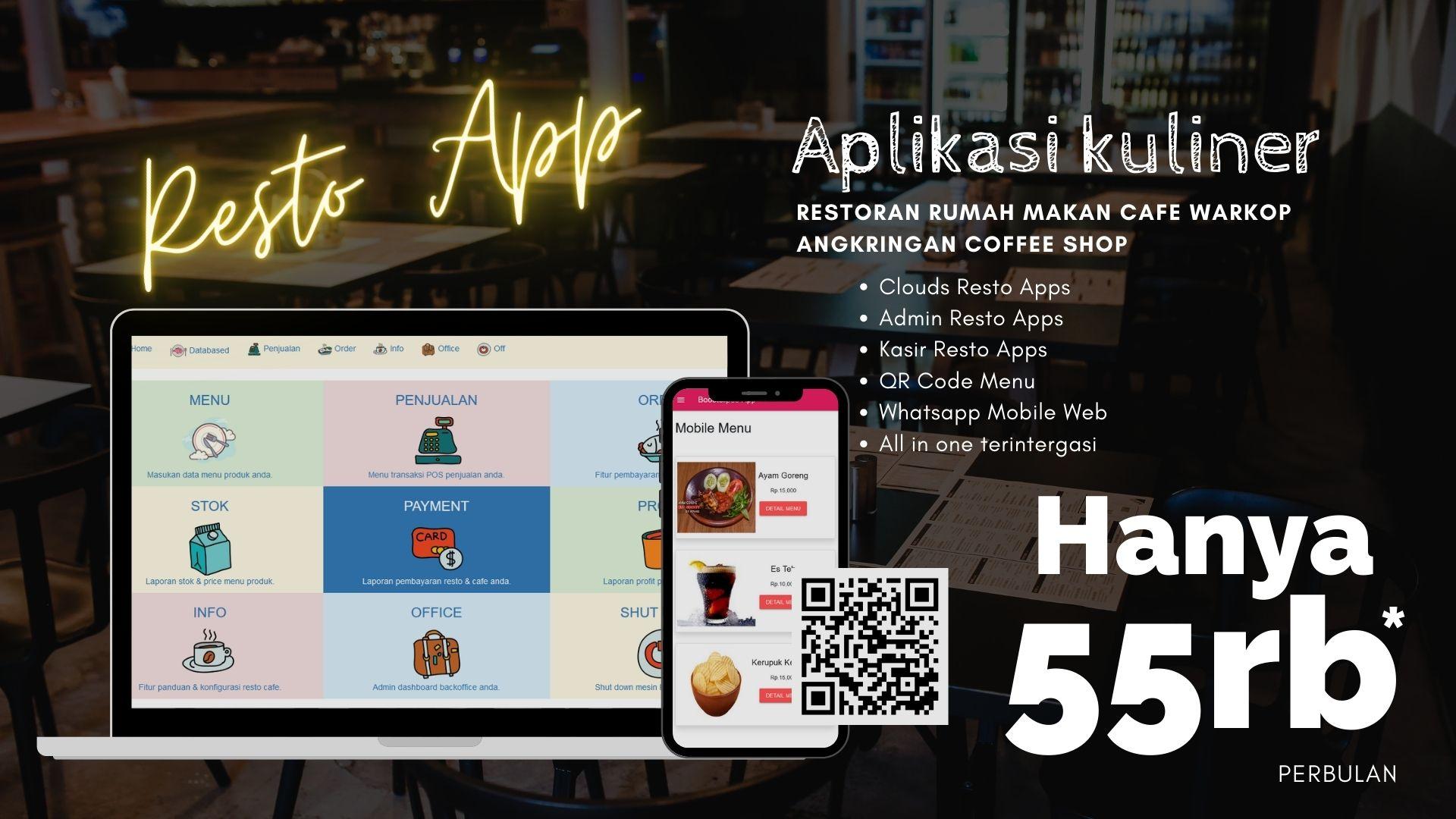 aplikasi kasir penjualan restoran online plus whatsapp order