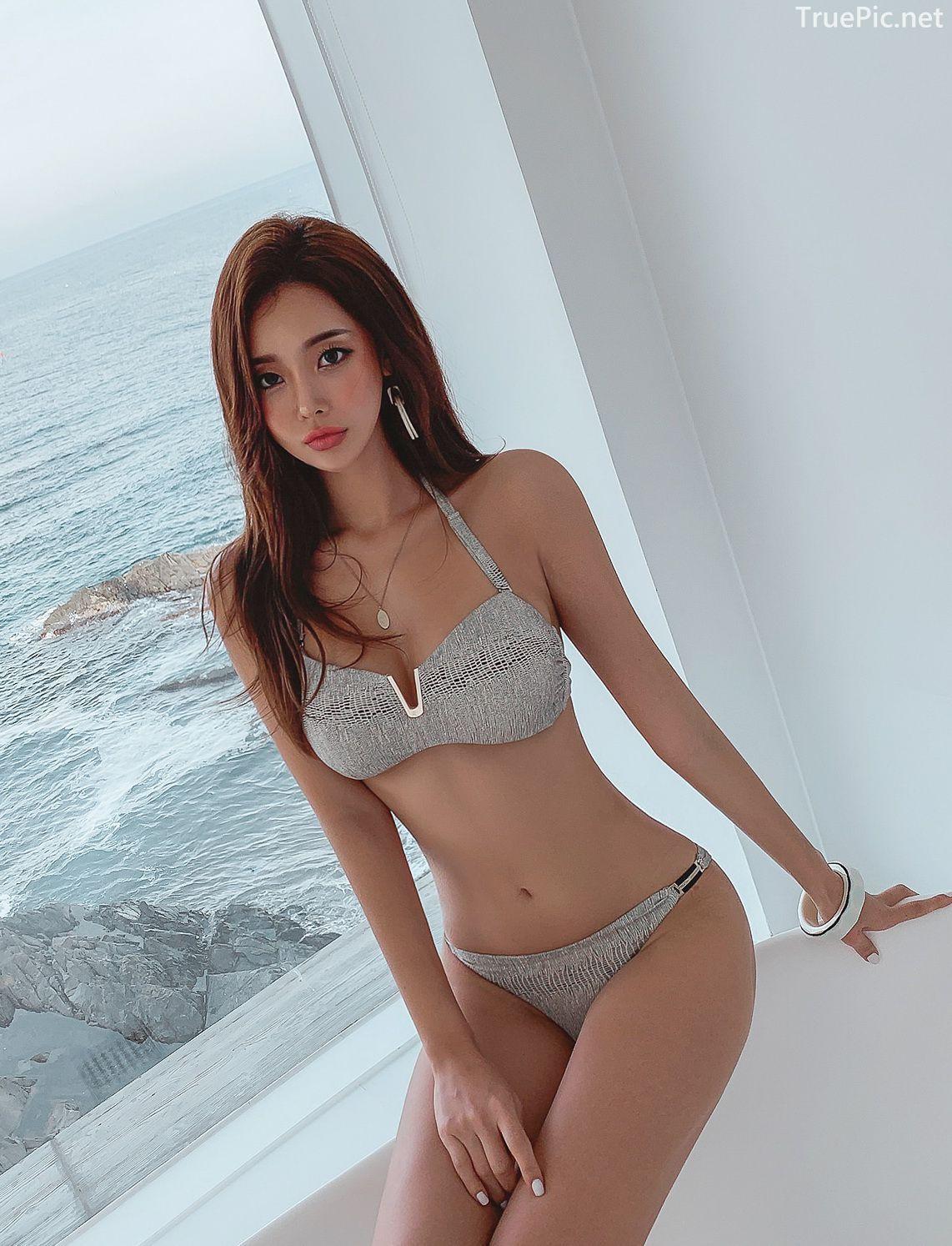 Korean lingerie queen - Park Da Hyun - Chloe python Bikini - Picture 5
