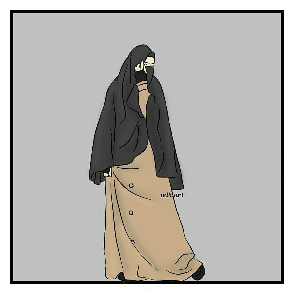 990 Koleksi Gambar Kartun Wanita Muslimah Bercadar Gratis Terbaru