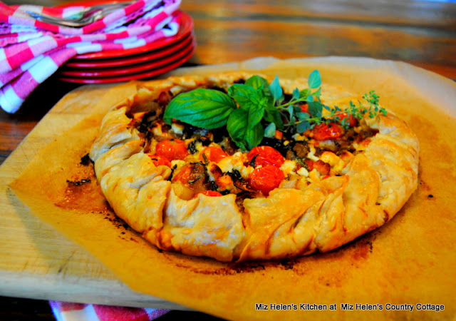 Tiny Tomato Galette at Miz Helen's Country Cottage