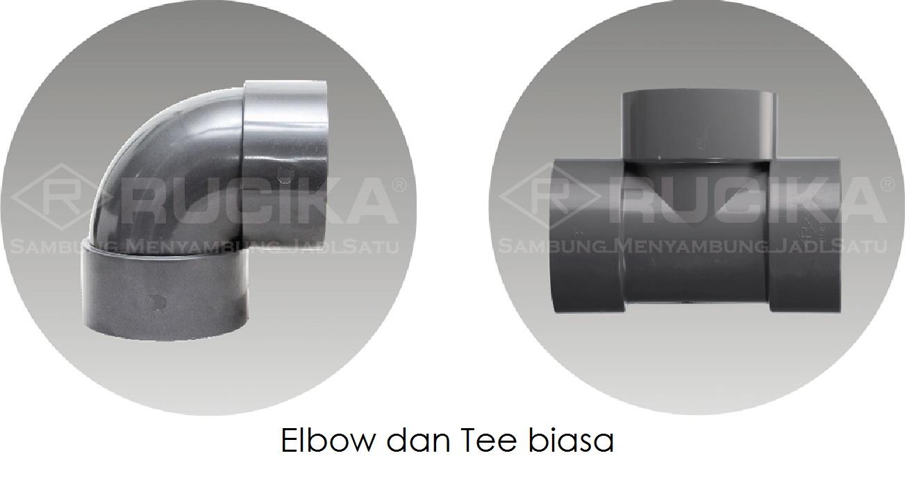 Elbow dan Tee Biasa - Rucika