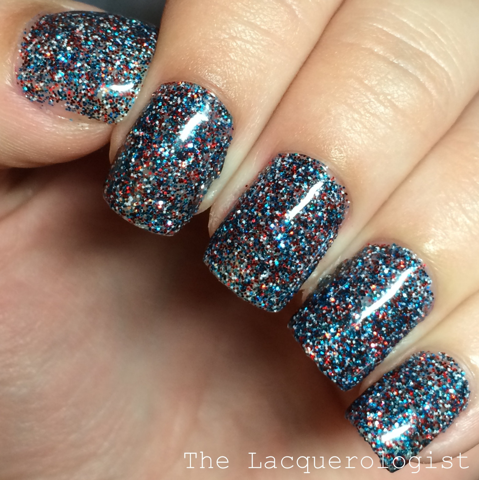Fourth of July Glitter Gels • Casual Contrast