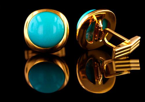 7d18c2cd0640 Colleras en oro con turquesa