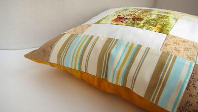 """Комплект для дачи """"Сливочная деревня"""": подушка 40х40 см - текстиль для дачи"""