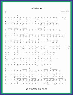 not angka palu ngataku lagu daerah sulawesi tengah