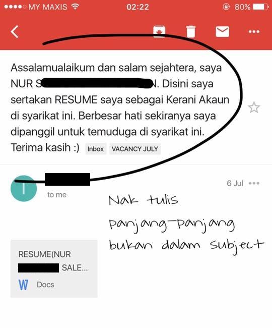 gambar   u2018hantar permohonan kerja atau nak berkenalan