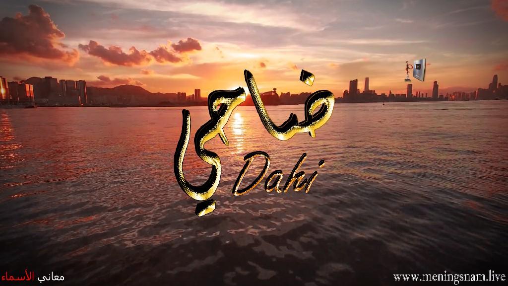 معنى اسم ضاحي وصفات حامل هذا الاسم Dahi