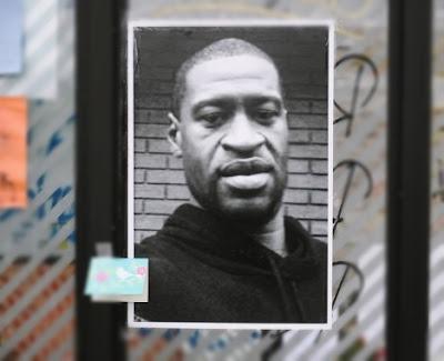 Fotografia de George Floyd, luto, descanse em paz.