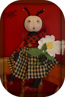 Lady bug doll and pattern by Raggedy Rhondas, handmade