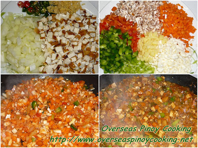 Vegetarian Bopis - Cooking Procedure