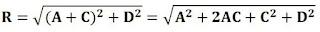 rumus besar resultan dua vektor yang mengapit sudut
