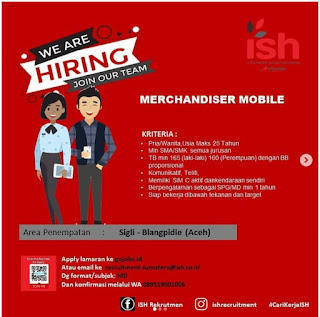 Lowongan Kerja Merchandiser Mobile PT Infomedia Solusi Humanika