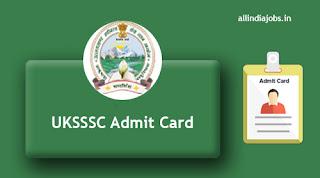 UKSSSC Assistant Instructor Admit Card