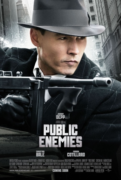 Poster Of Public Enemies 2009 720p Hindi BRRip Dual Audio Full Movie Download