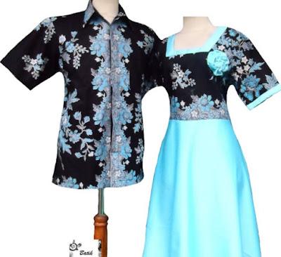 Model Dress Batik Orang Gemuk simpel