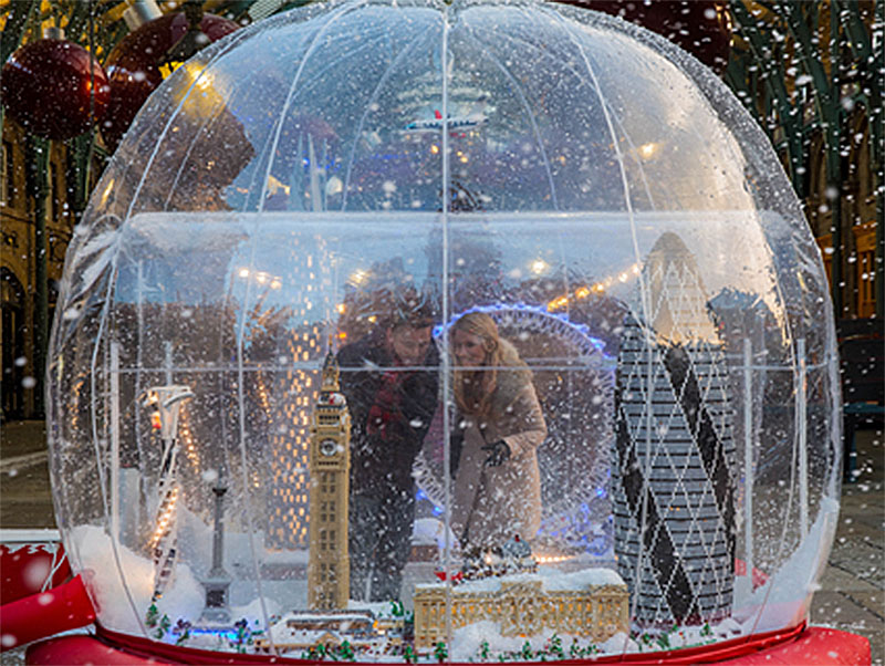 Giant Lego Snowglobe Features 14 London Landmarks For